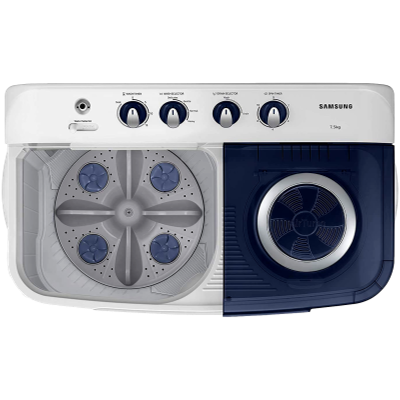 Picture of Samsung 7.5 kg Semi-Automatic Top Loading Washing Machine (WT75M3200HB/TL, Light grey, Air turbo drying)