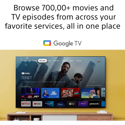 Picture of Sony Bravia 164 cm (65 inches) 4K Ultra HD Smart Android LED TV 65X80J (Black) (2021 Model)