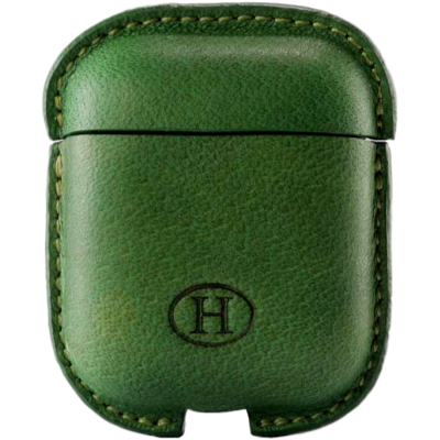 Picture of HAANS Leather Airpod Full Case Green 2500015