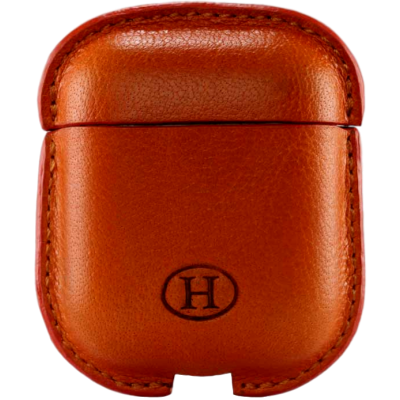 Picture of HAANS Leather Airpod Full Case Orange 2500014