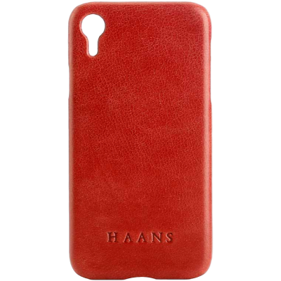 HAANS Leather Case iPhone XR Red 2500010