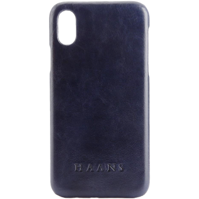 HAANS Leather Case iPhone XS Blue 2500003