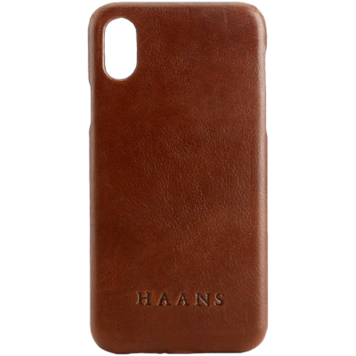 HAANS Leather Case iPhone XS Brown 2500001