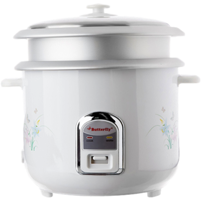Picture of Butterfly Cylindrical KRC- 22 Electric Rice Cooker (2.8 L, Cream and White)