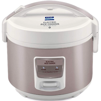 Picture of KENT 16014 Electric Rice Cooker (5 L, Ivory Brown)