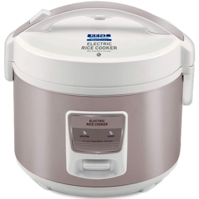 KENT 16013 Electric Rice Cooker (3 L, Ivory Brown)