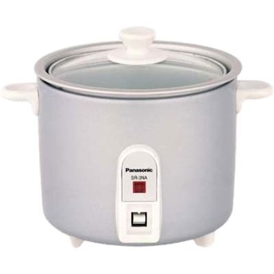 Panasonic SR-3NA Rice Cooker (0.5 L, White)