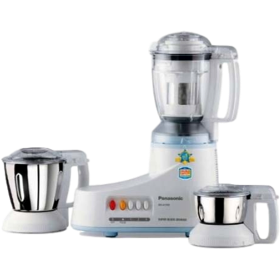 Panasonic MX-AC350 550 W Mixer Grinder (White, 3 Jars)