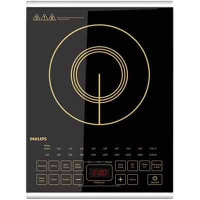 Philips HD4938/01 Induction Cooktop (Black,Touch Panel)