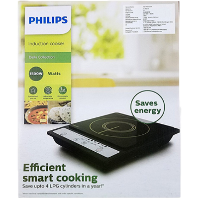 Picture of Philips HD4920 Induction Cooktop (Black, Push Button)