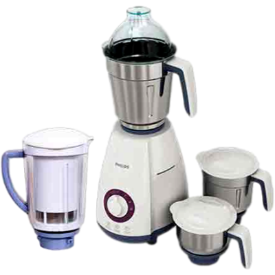 Philips HL-7701/00 750 W Mixer Grinder (White and Lavender, 4 Jars)