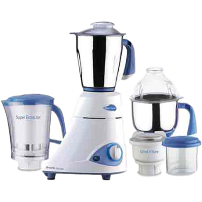 Preethi Blue Leaf Platinum MG-139 Mixer Grinder (White, 4 Jars)