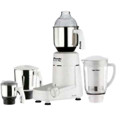 Preethi Popular- MG 142 Mixer Grinder (White, 3 Jars)