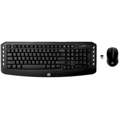 HP Combo Wireless Multimedia Keyboard Mouse V4L74
