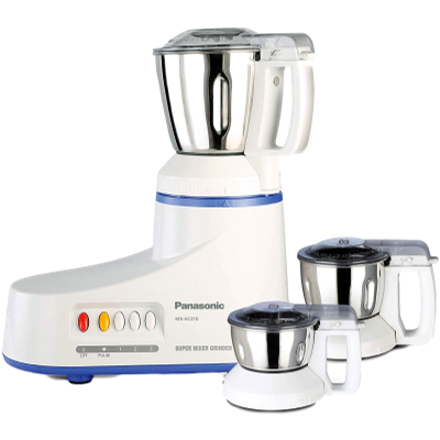 Panasonic MX-AC310 550 W Mixer Grinder (White, 3 Jars)
