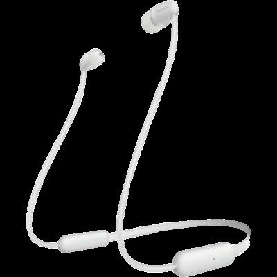 Sony WI-C200 Bluetooth Headset (White, Wireless)