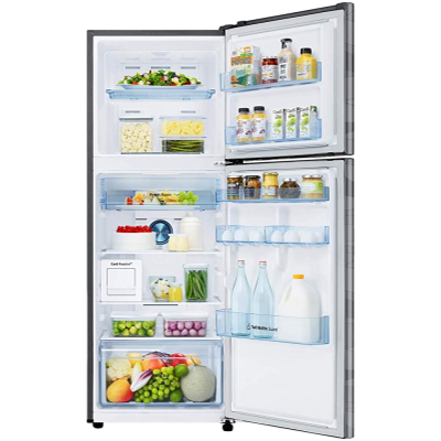 Picture of Samsung 314 L 2 star Double Door Refrigerator (RT34T4632NV, Wave Steel)