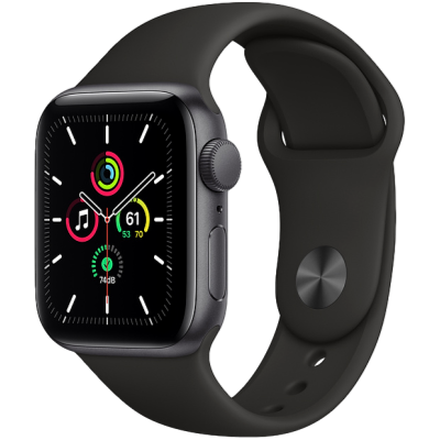Picture of Apple Watch SE GPS + Cellular 44mm Space Gray Aluminium Case with Black Sport Band - Regular