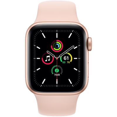 Picture of Apple Watch SE GPS + Cellular 44mm Gold Aluminium Case with Pink Sand Sport Band - Regular