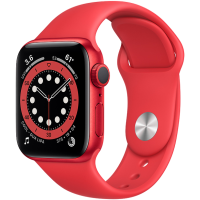 Picture of Apple Watch Series 6 GPS 40mm PRODUCT(RED) Aluminium Case with PRODUCT(RED) Sport Band - Regular