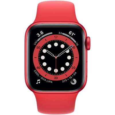 Picture of Apple Watch Series 6 GPS 44mm PRODUCT(RED) Aluminium Case with PRODUCT(RED) Sport Band - Regular