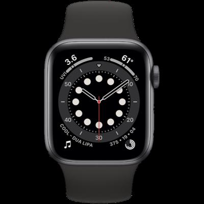Apple Watch Series 6 GPS + Cellular 40mm Space Gray Aluminium Case with Black Sport Band - Regular