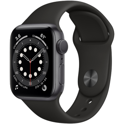 Picture of Apple Watch Series 6 GPS + Cellular 44mm Space Grey Aluminium Case with Black Sport Band - Regular