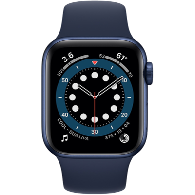 Apple Watch Series 6 GPS + Cellular 40mm Blue Aluminium Case with Deep Navy Sport Band - Regular