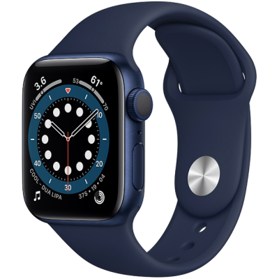 Picture of Apple Watch Series 6 GPS 44mm Blue Aluminium Case with Deep Navy Sport Band - Regular