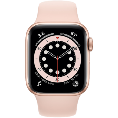 Picture of Apple Watch Series 6 GPS 40mm Gold Aluminium Case with Pink Sand Sport Band - Regular